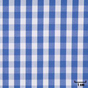 H11351 - WHITE, SMALL BLUE CHECKS