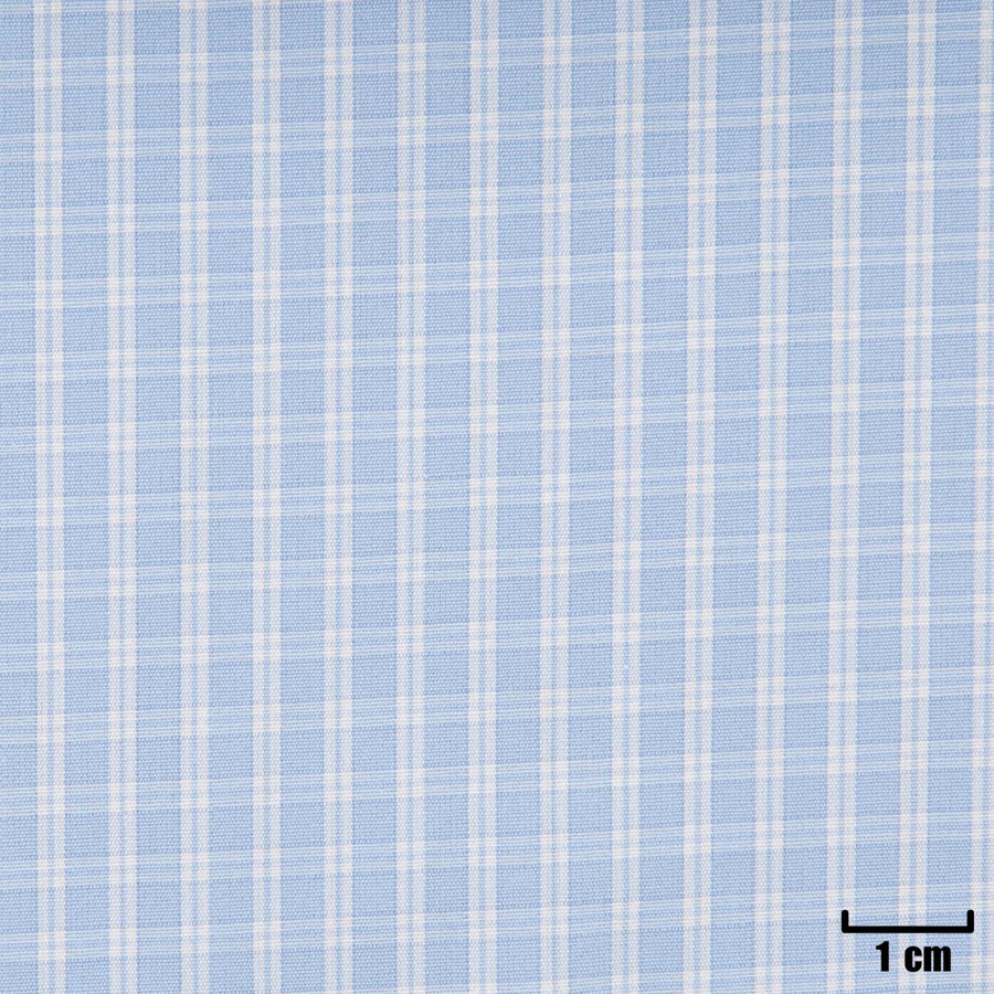 H11385 - BLUE, SMALL WHITE CHECKS
