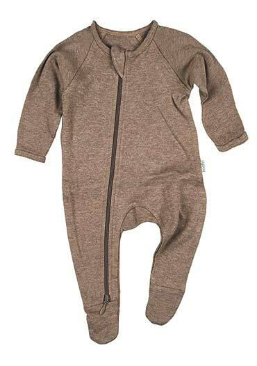 Organic Onesie Long Sleeve Dreamtime in Cocoa