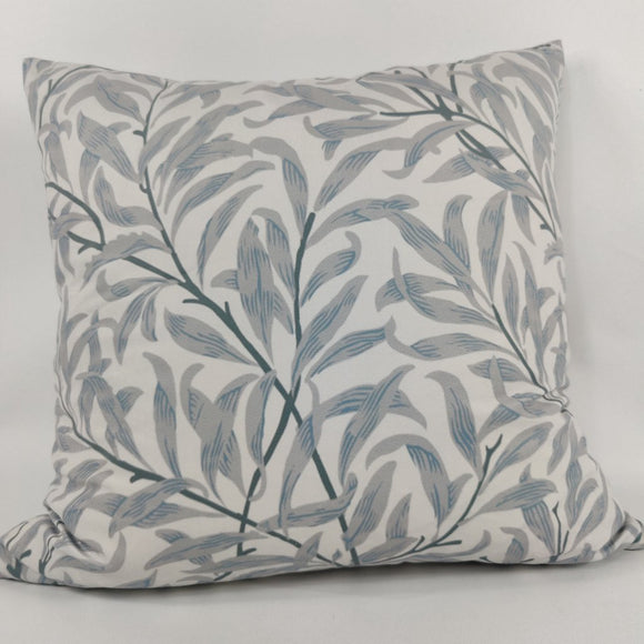 Blue Dusk Botanical Velvet Cushion 50x50cm