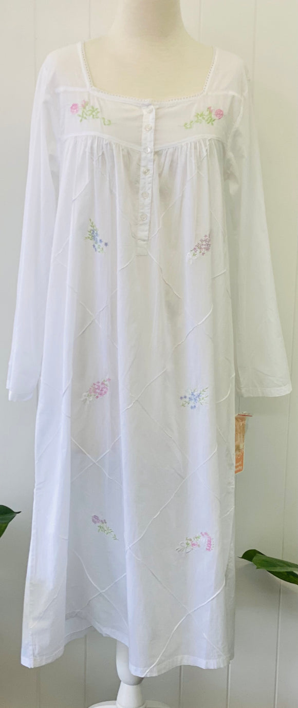 French Country L/S 115 Cambric Nightie