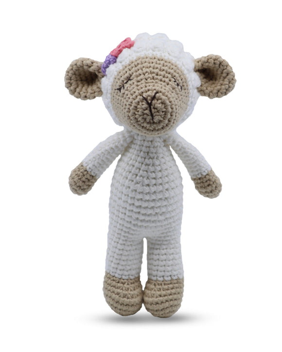 Snuggle Buddies Mini Standing Toy Lamb