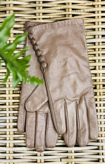 Gloves Mushroom Leather