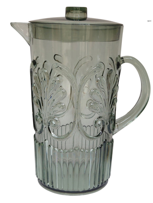 Acrylic Scollop Pitcher Smoke