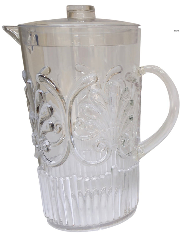 Acrylic Scollop Pitcher Clear