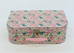 Large Carry Case in Floral Teal Pink