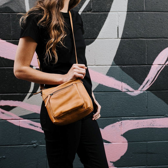 Bella Leather Bag Tan