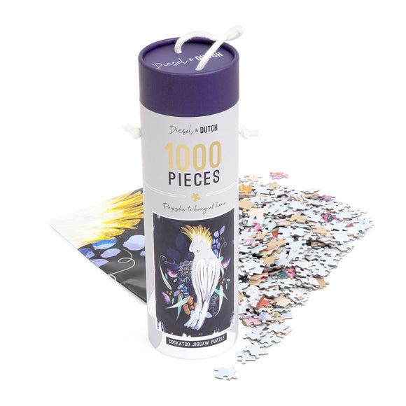 Diesel & Dutch - Cockatoo 1000pc Wall Puzzle