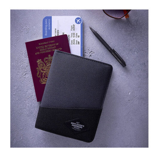 Gentleman's Hardware Travel Wallet Black & Grey