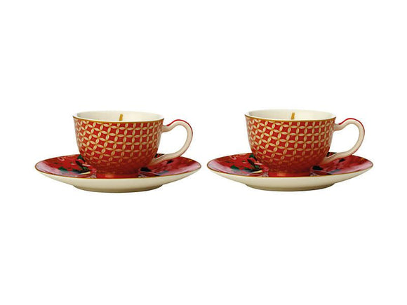 Maxwell & Williams Teas & C's Silk Road Demi Cup Set - Cherry Red