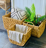 Spinner Hyacinth Weave Basket
