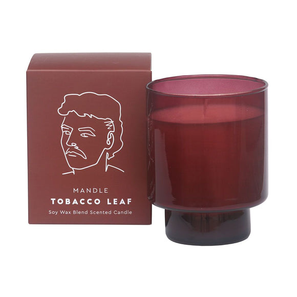 Mandle Scented Candle Jar - Tobacco Leaf