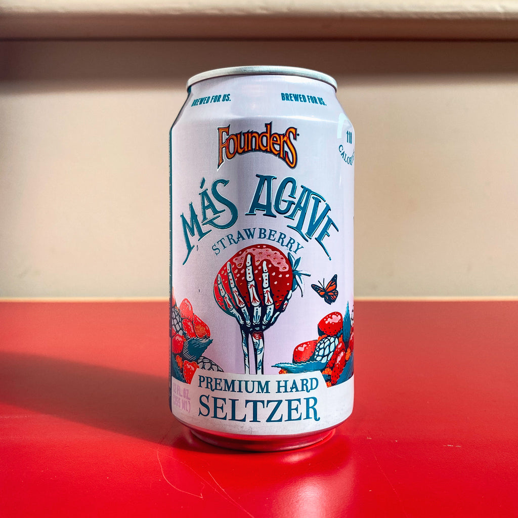 Founders Más Agave Premium Hard Seltzer Strawberry