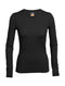 Icebreaker Oasis Long Sleeve Crewe Womens Top - Black