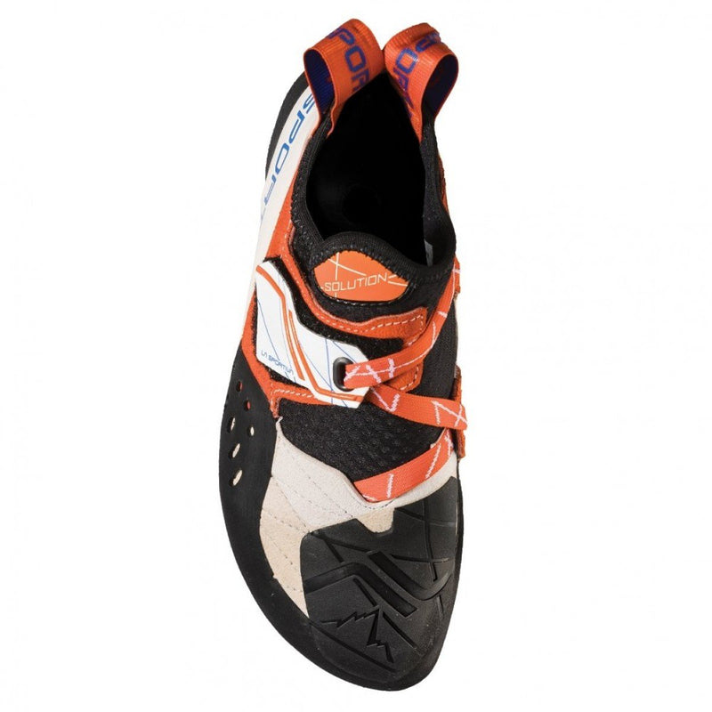 La Sportiva Solution Womens Climbing Shoe - White/Lily Orange