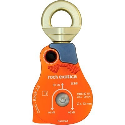 Rock Exotica Omni Block 2.6 Single Rope Pulley