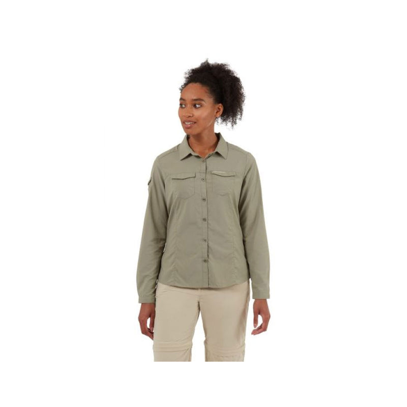 Craghoppers NosiLife Adventure II Womens Long Sleeve Shirt - Mushroom