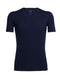 Icebreaker Anatomica Short Sleeve Mens V Neck Top - Midnight Navy