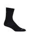 Icebreaker Hike UL Liner Crew Womens Socks - Black