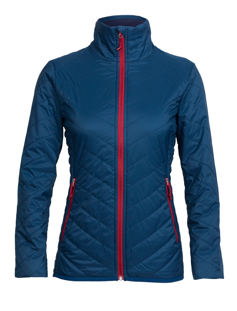 Icebreaker Hyperia Lite Womens Jacket - Largo/Oxblood