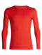 Icebreaker Oasis Long Sleeve Crewe Mens Top - Chilli Red