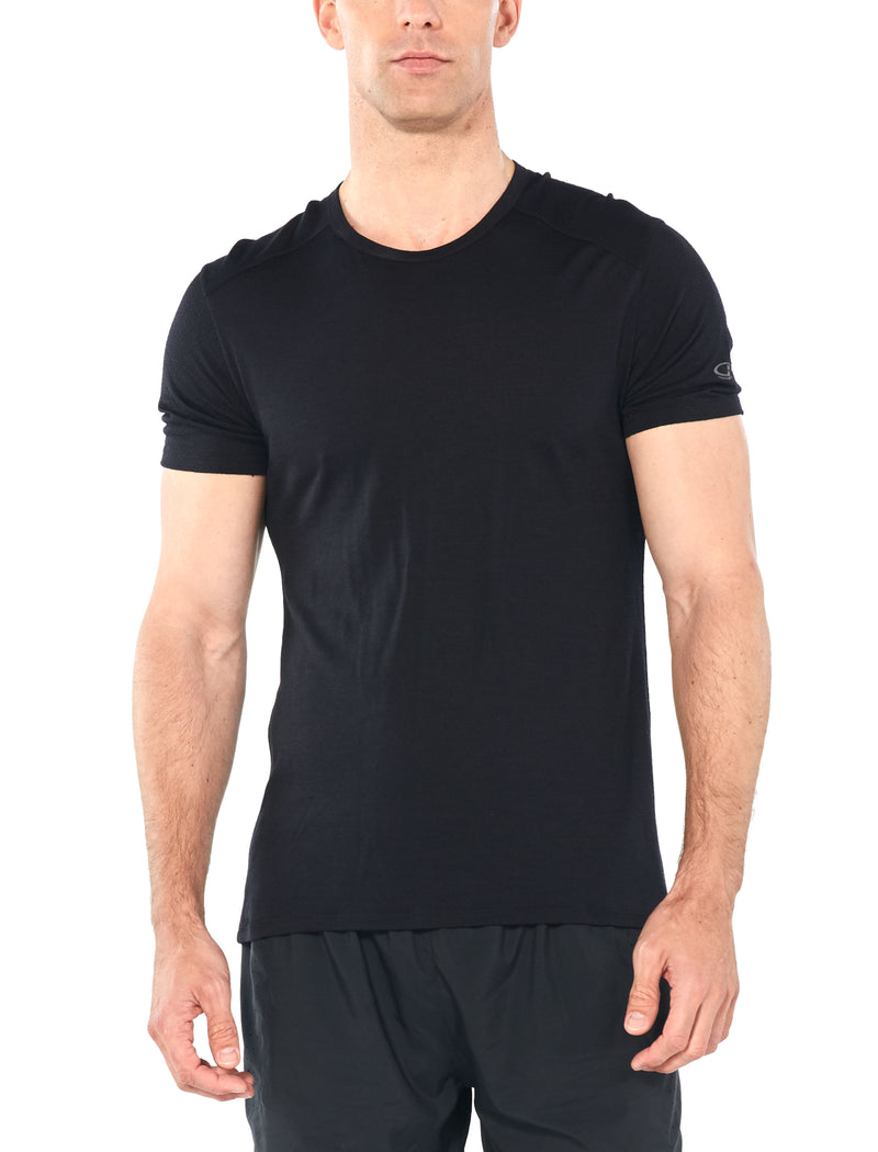 Icebreaker Amplify Short Sleeve Crewe T-Shirt Mens - Black