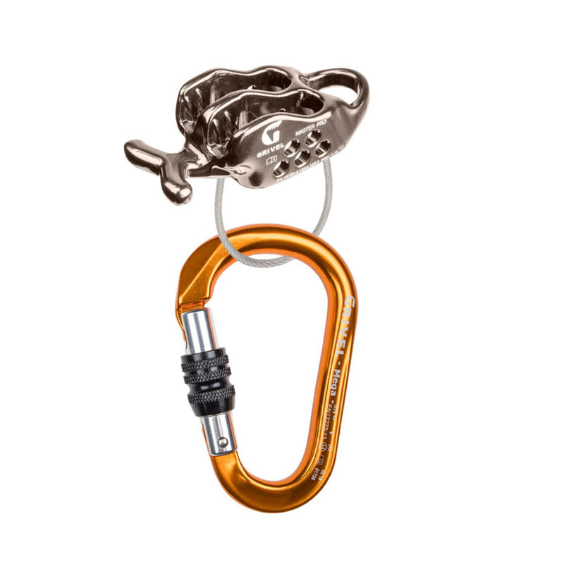 Grivel Master Pro Belayer with K6N Climbing Belay Device and Carabiner Kit