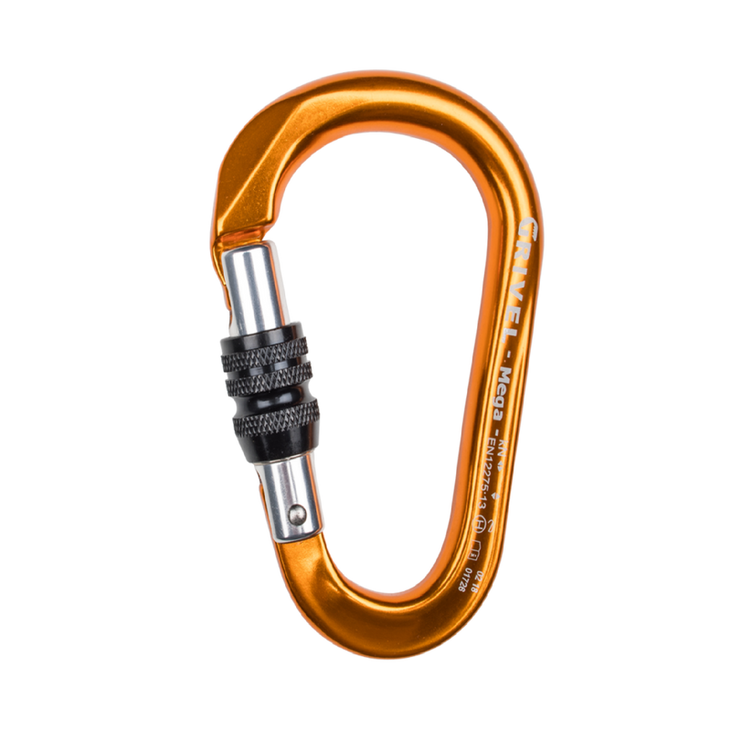 Grivel K6N Omega Screw Gate Climbing Safety Carabiner