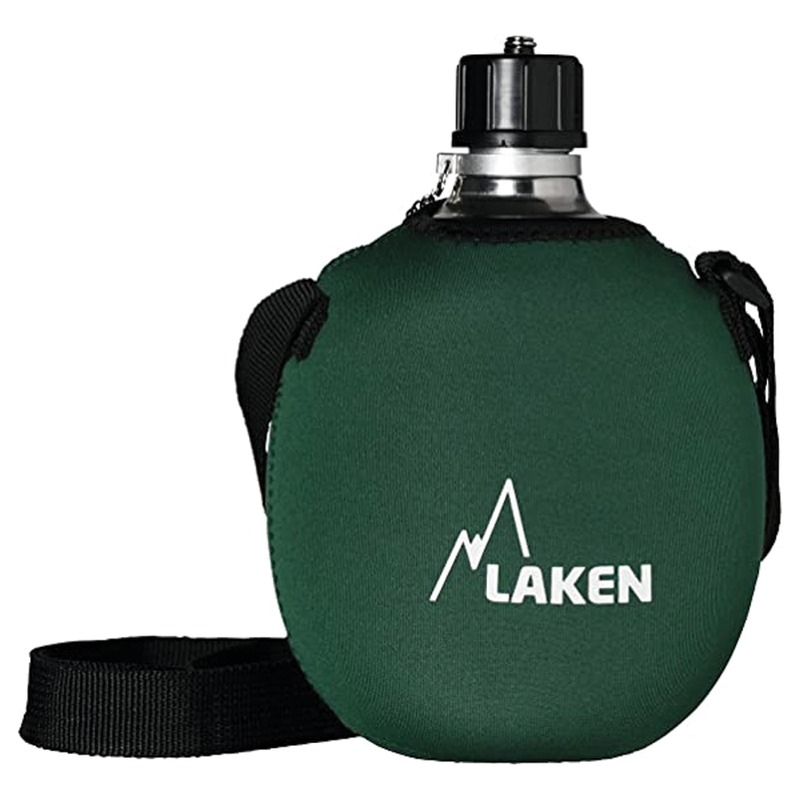 Laken Clasica with Neoprene Cover and Shoulder Strap - Green