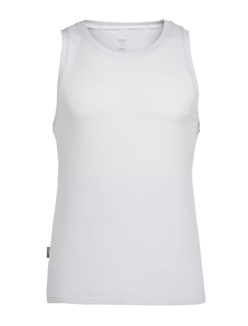 Icebreaker Anatomica Mens Tank Top - Ivory/White