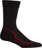 Icebreaker Hike + Lite Crew Mens Socks - Jet Heather/Red/Black