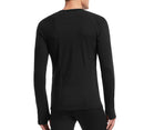 Icebreaker Zone Long Sleeve Crewe Mens T-Shirt - Black/Monsoon
