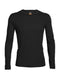 Icebreaker Oasis Long Sleeve Crewe Mens Top - Black