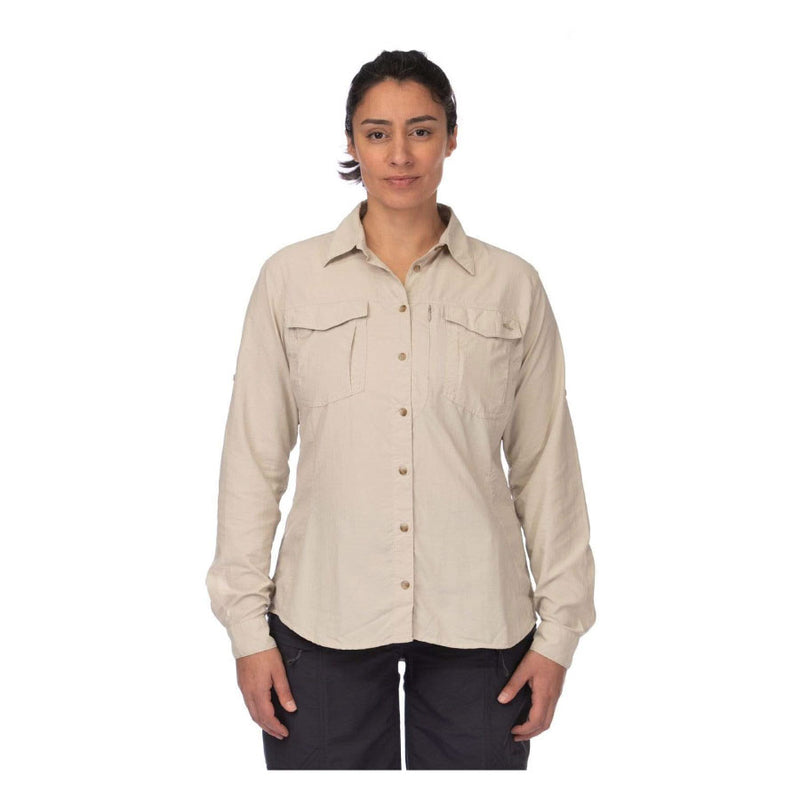 Mont Lifestyle Vented Womens Long Sleeve Shirt - Stone