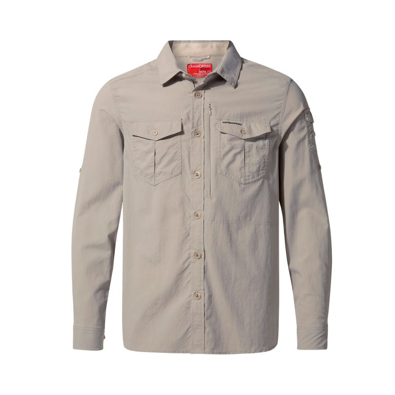 Craghoppers NosiLife Adventure II Long Sleeved Mens Shirt - Parchment