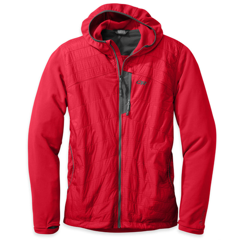 Outdoor Research Deviator Mens Hooded Jacket - Hot Sauce/Charcoal