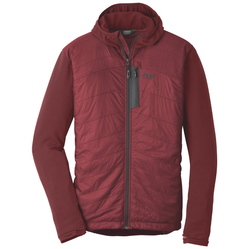Outdoor Research Deviator Mens Hooded Jacket - Firebrick