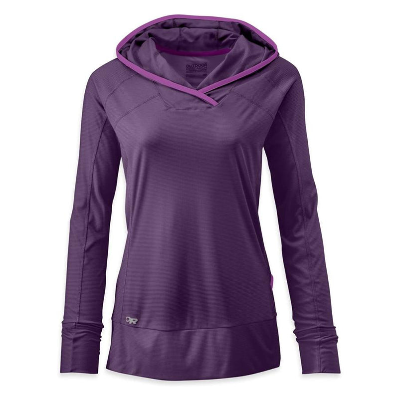 Outdoor Research Echo Womens Hooded Top - Night/Ultraviolet