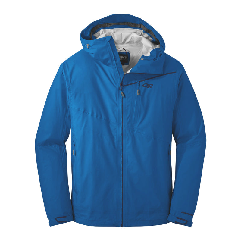 Outdoor Research Interstellar Mens Hooded Waterproof Jacket - Cobalt