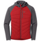 Outdoor Research Refuge Hybrid Mens Hooded Jacket - Tomato/Storm