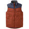Outdoor Research Transcendent Mens Down Vest - Burnt Orange/Naval Blue