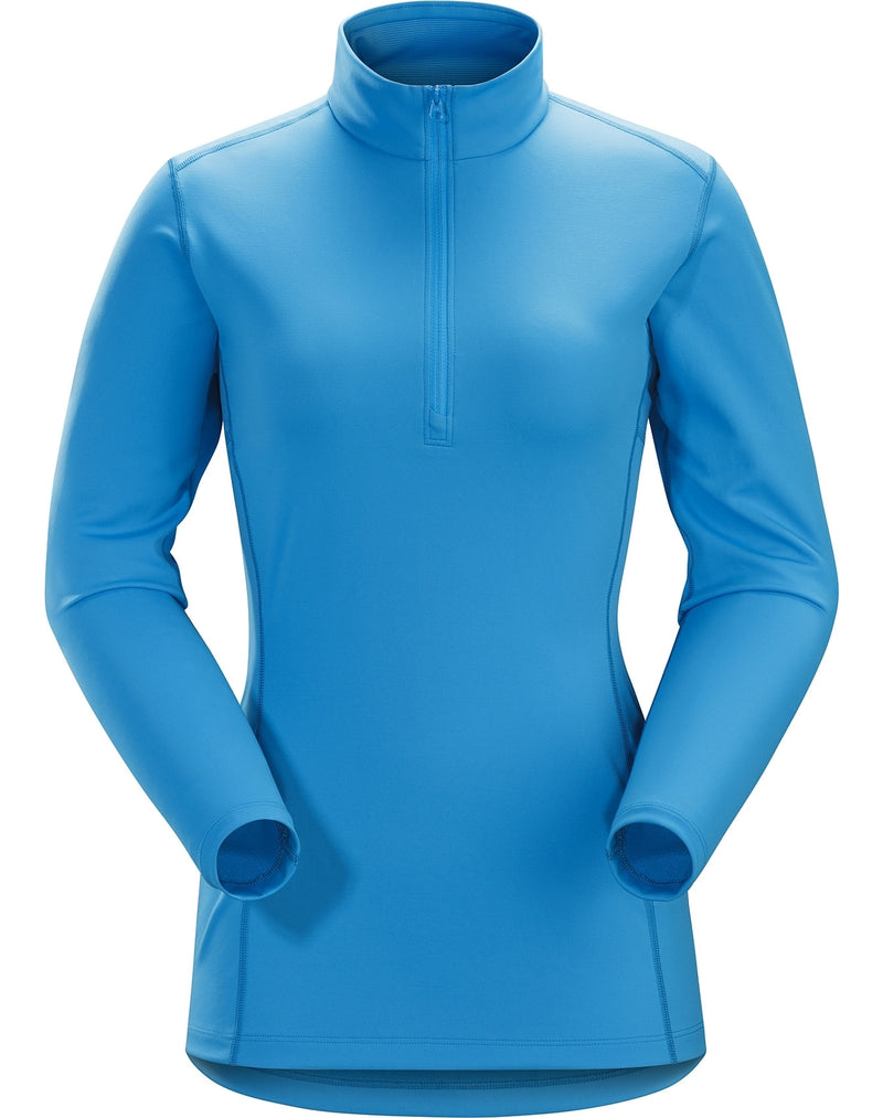 ArcTeryx Phase AR Zip Neck Womens Long Sleeve Top - Baja