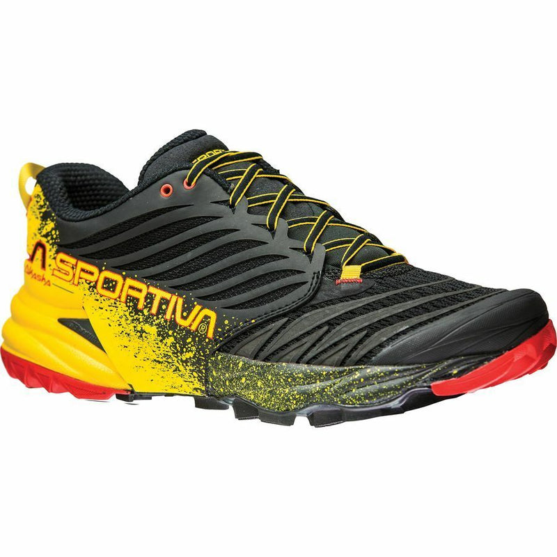 La Sportiva Akasha Mens Trail Running Shoe - Black/Yellow