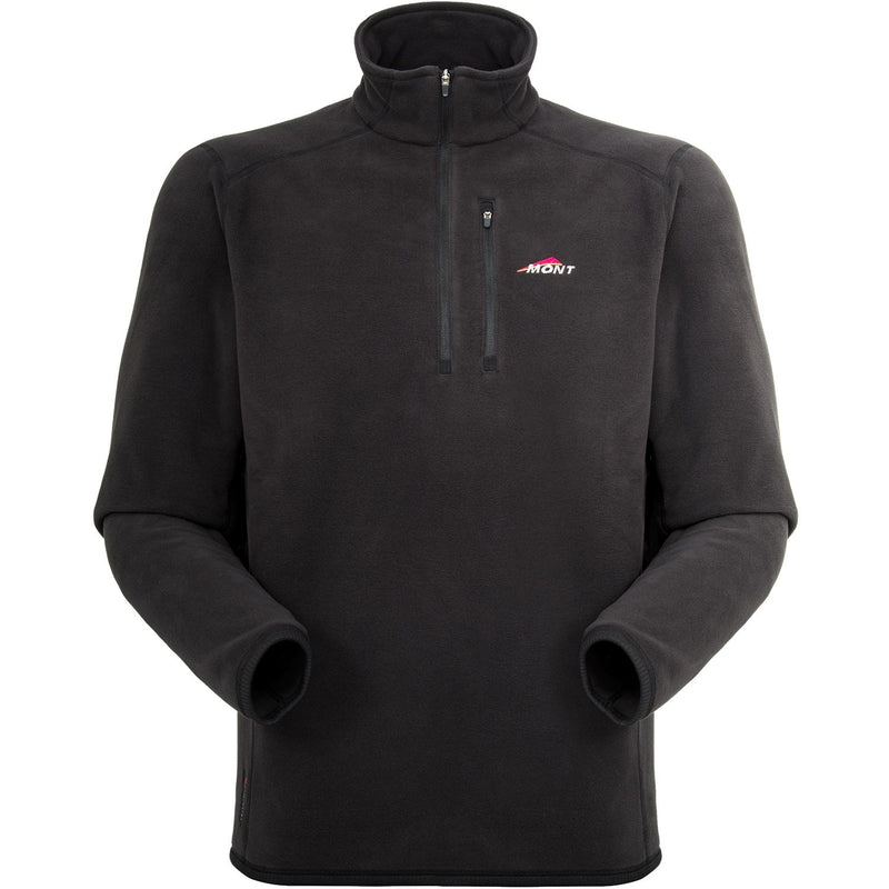 Mont Micro Bushshirt Mens Fleece Top - Black