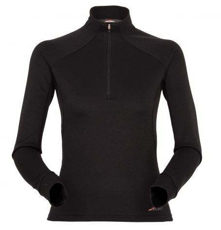 Mont Power Dry Zip Womens Long Sleeve Top - Black