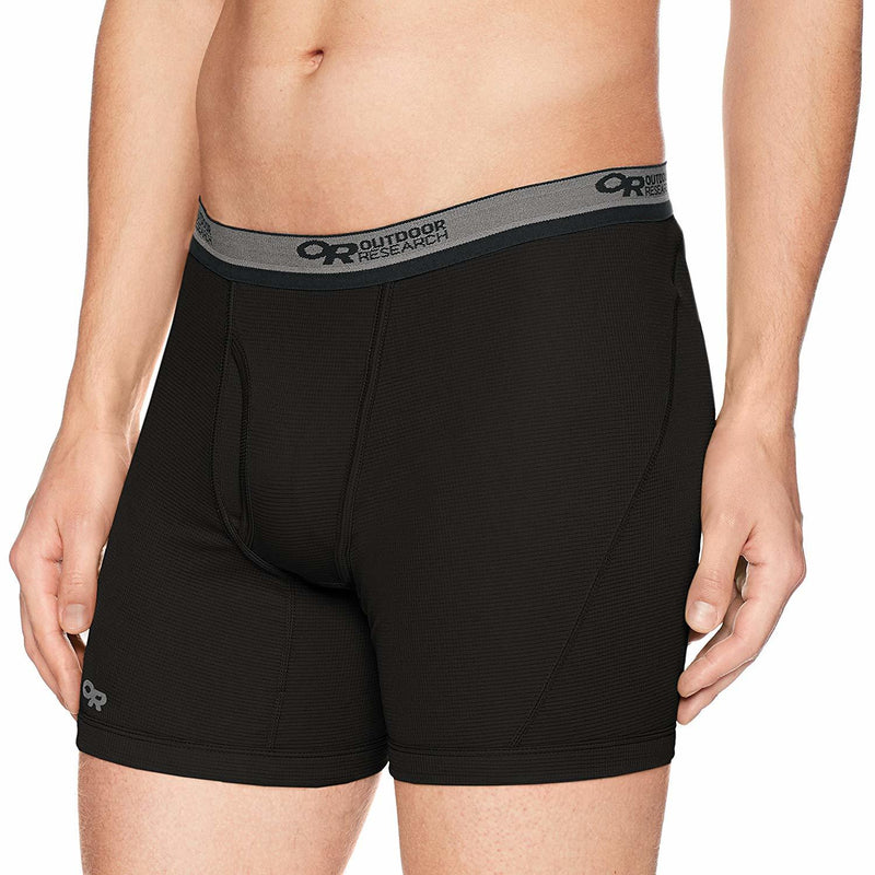 Outdoor Research Echo Mens Boxer Briefs - Black/Pewter