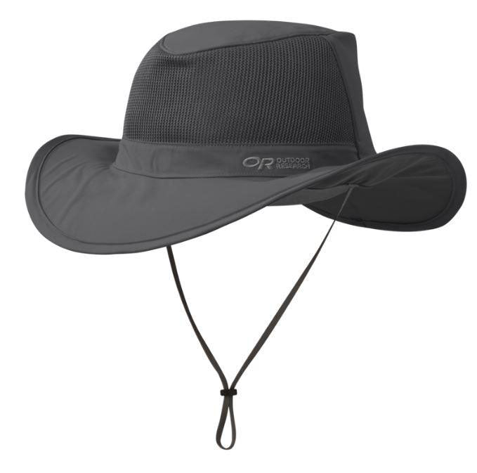 Outdoor Research Ghost Convertible Rain Hat Headwear - Charcoal