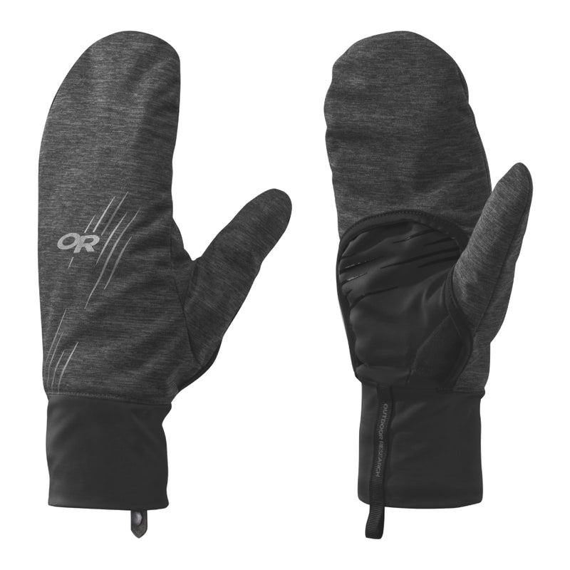Outdoor Research Overdrive Convertible Gloves - Heather/Black
