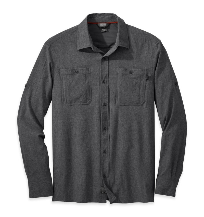 Outdoor Research Wayward Mens Long Sleeve - Charcoal