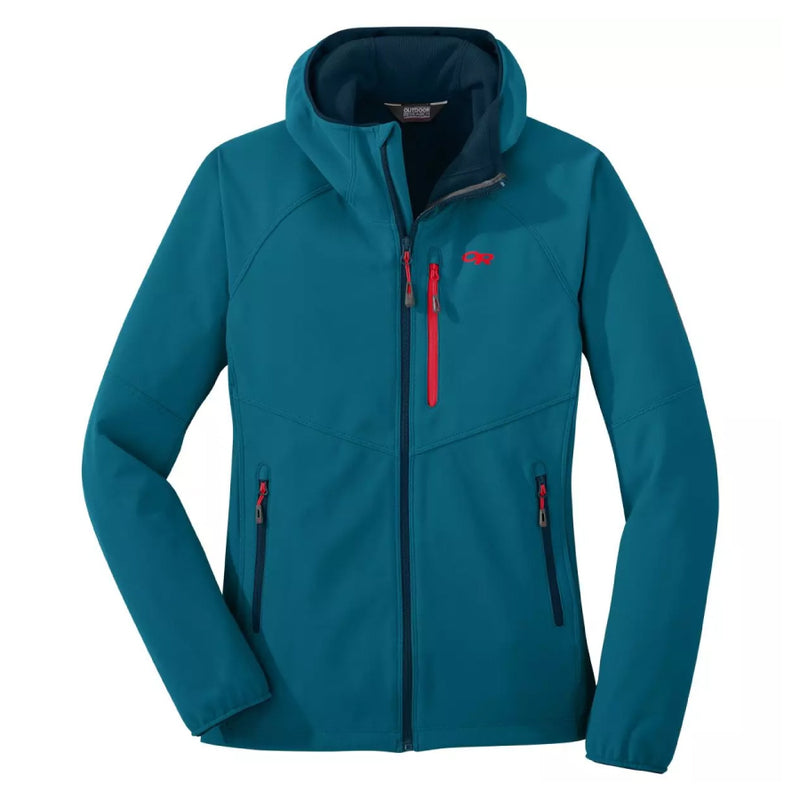 Outdoor Research Ferrosi Grid Womens Softshell Hooded Jacket - Celestial Blue
